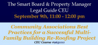 CEU - Best Practices for a Successful Multi-Family Building Re-Roofing Project